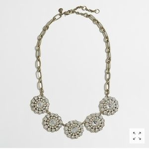 J.Crew layered circle crystal statement necklace